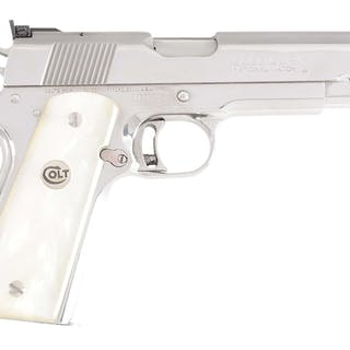 This special Model 1911 features the high polish...