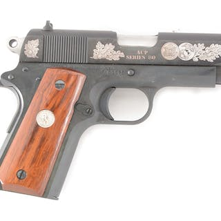 """The matching Colt Custom Shop end label reads """" Officers..."""