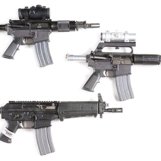 Lot consists of (A) Bushmaster lower
