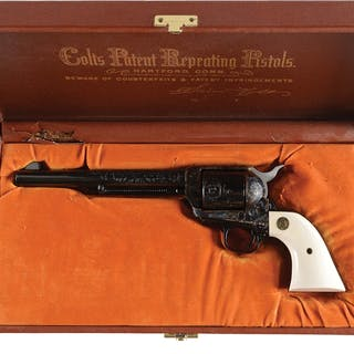 This fine custom shop Colt Single Action Army comes with...