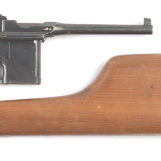 Mauser C-96 Broomhandle pistol chambered for the 7.63...
