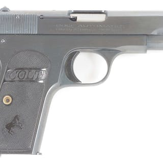 Made in 1925 in standard Colt factory blue with black composite grips