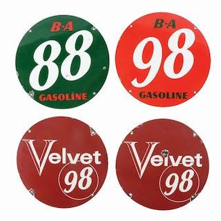 Lot Consists Of: Velvet 98 Porcelain Pump Plate