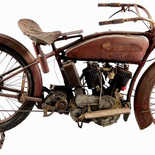 A true barn find! This Reading Standard Motorcycle shows...
