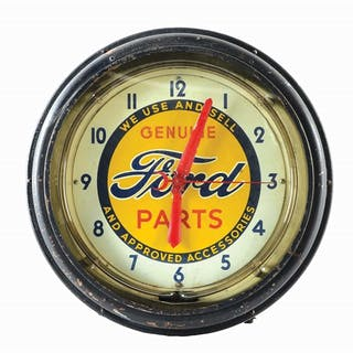 A very nice example of this Neon Clock for Ford made by Neon Products