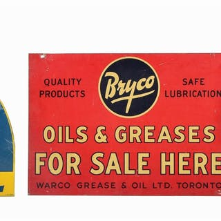 Lot Consists Of: Castrol Motor Oil Authorized Dealer Embossed Tin Sign