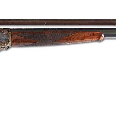 """Manufactured in 1896 with a 32"""" Number 4 barrel without provision for rear sight"""