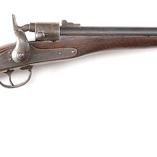 The Model 1864 Joslyn breech loading carbine is stamped...