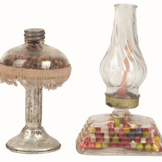 Includes a Library Lamp and a Hurricane Lamp