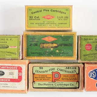 Lot consists of (A) Plaid box with green top and red side labels