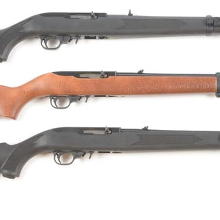 Lot consists of (A) Ruger 10/22 semi-auto .22 rifle with...