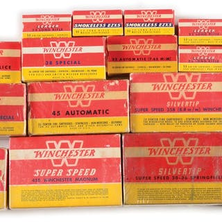 Lot consists of Eighteen Winchester boxes of Yellow
