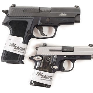 Lot consists of (A) SIG Sauer P229 SAS compact semi-automatic pistol
