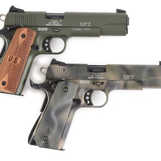 Lot consists of (A) Sig Model 1911-22 Target pistol with...