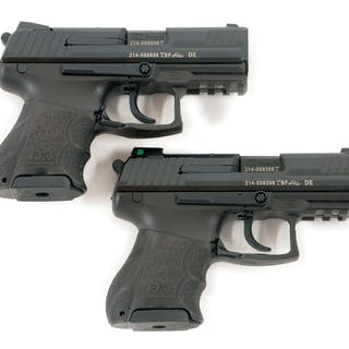 Lot consists of: 2 Heckler and Koch P-30SK semi-automatic...