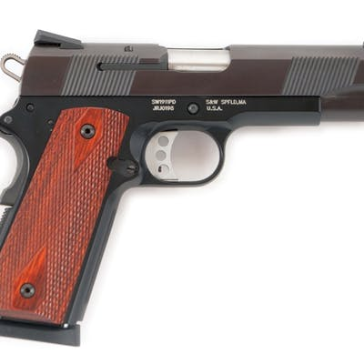 Gun is a 1911 PD series featuring three dot Novak sights...