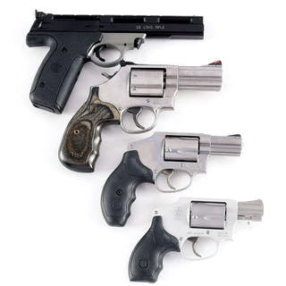 Lot consists of (A) Smith and Wesson Model 22A-1 .22LR...