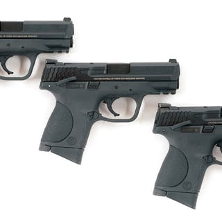 Lot consists of three Smith & Wesson Polymer frame M&P 9C...