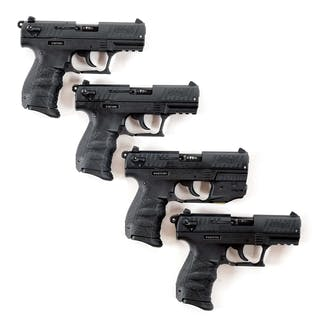 Lot consists of four Walther Model P-22 pistols