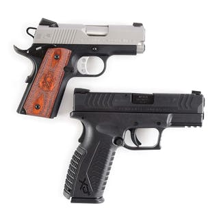Lot consists of (A) Springfield Armory EMP is a single stack 1911 styled 9mm