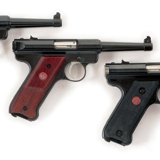 Lot consists of three Ruger MK II endowment and...