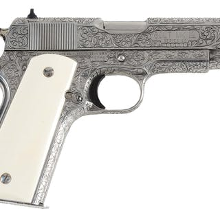 This is a stainless steel Commander in .38 Super with...