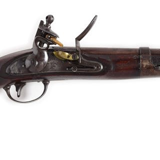 An excellent example of this key US martial flintlock in...