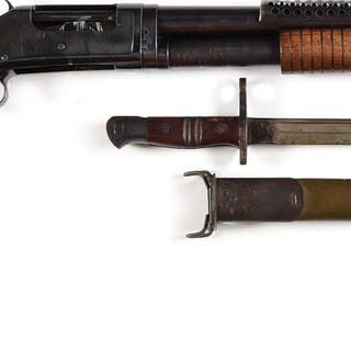 Offered is a very scarce 1942 dated trench gun with all of the early features