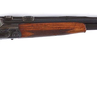 Circa 1930's Nitro 16 bore and 6mm double barrel over and under gun