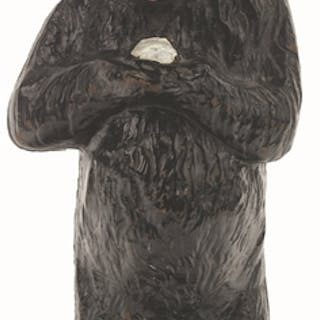 Incredible oversized full-figure standing bear holding...