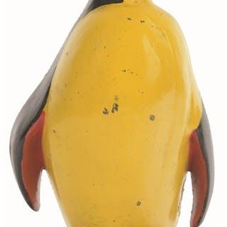 Penguin looking upward