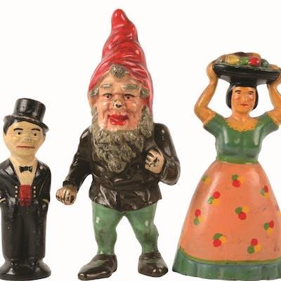 Lot consists of: a full-figure Gnome; a full-figure