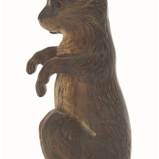 Depiction of large begging rabbit with superb casting