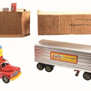 First and with original box is a Hauler and Van Trailer