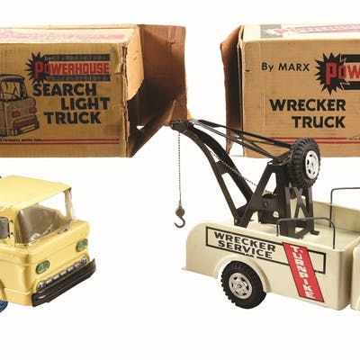 Both in original boxes and with square-cab fronts