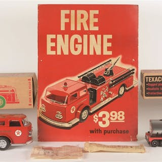 A cardboard Fire Engine Display from Texaco Station