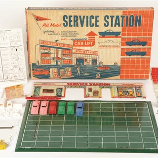 First is a Buddy L 5301 Texaco Station Set