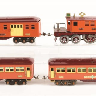 Ives 1764-E Locomotive and cars are in absolutely...