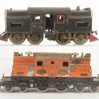 Lot consists of an Ives 3233-R Locomotive with...