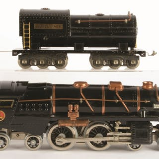 Lionel 400E is black with copper trim