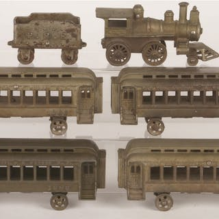 Set consists of: a 2-4-0 Steam Locomotive