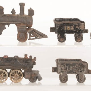 Lot consists of: two 2-2-0 Steam Locomotives