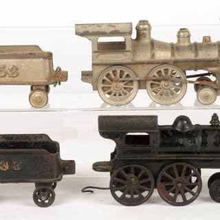 Ideal nickel plated Steam Locomotive and matching Tender...