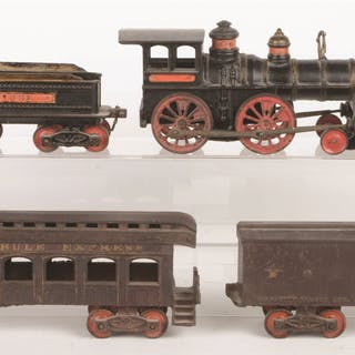Lot consists of: an Ives 4-4-0 Locomotive with Tender is...