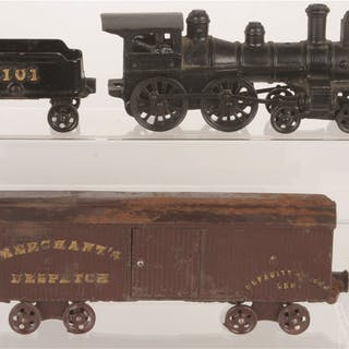Lot consists of one Ideal 4-4-0 Steam Locomotive and...