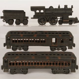 Set consists of: one 4-4-0 Steam Locomotive in excellent...