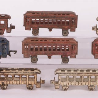 Lot consists of: six assorted Hubley four-wheel Passenger...