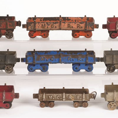 Lot consists of: five painted Michigan Central Railroad Gondolas by Ideal