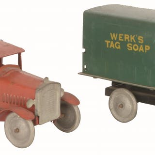 One is a Werk's tagged Soap Delivery Truck with original rear gate