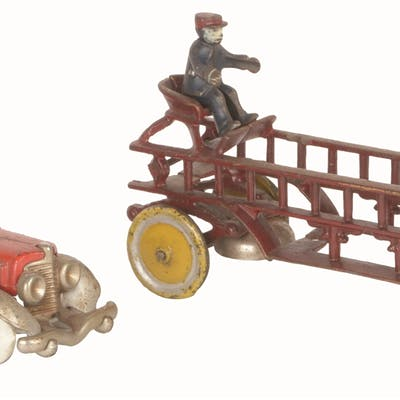First is a Hubley Ahrens Fox Fire Pumper Toy
